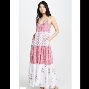 Roller Rabbit Mason Dakota Maxi Dress Pink White